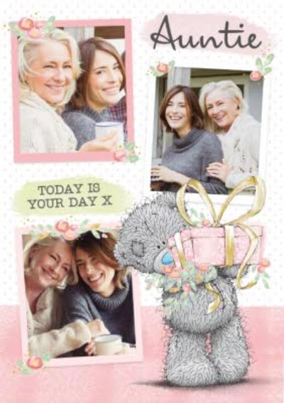 Auntie Birthday Card - tatty teddy - photo upload card