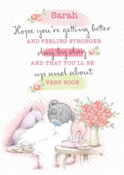 Tatty Teddy cute Get well soon card