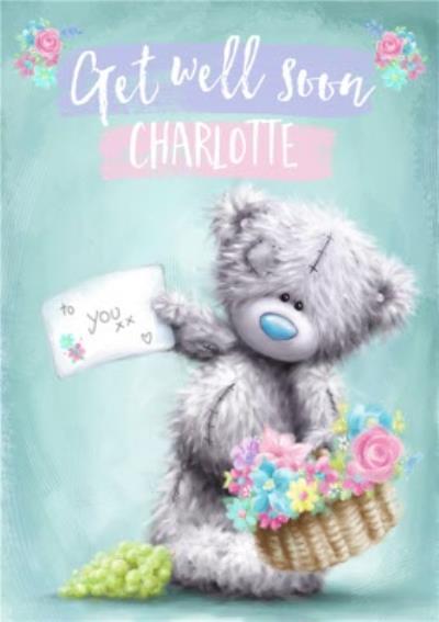 Tatty Teddy Cute Get Well Soon - Card