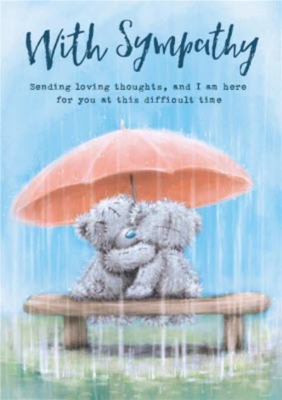 Tatty Teddy - Cute Sympathy card
