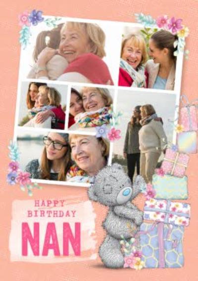 Cute Tatty Teddy Birthday Card - Nan - Photo Upload
