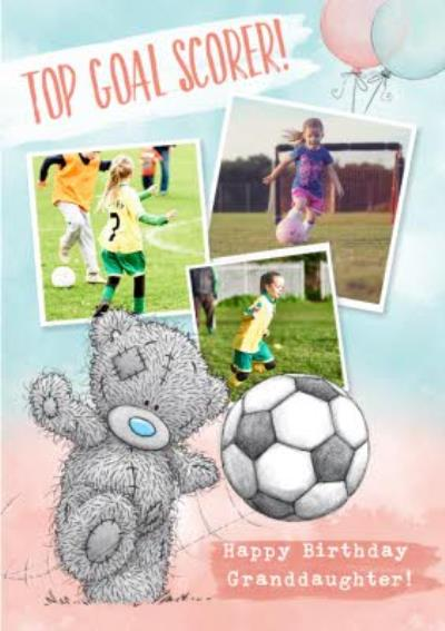 Cute Tatty Teddy Birthday Card - Granddaughter - Photo Upload