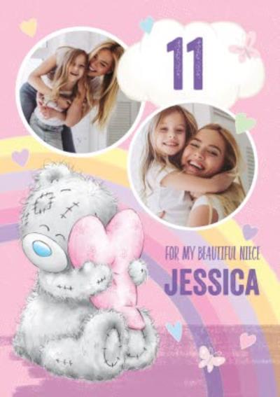 Cute Tatty Teddy Birthday Card - Niece - Photo Upload