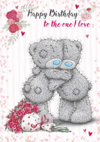 Tatty Teddy Hugs And Roses Personalised one I love Birthday Card