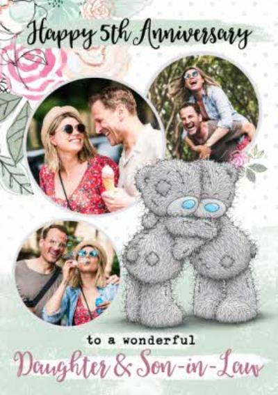 Me To You Tatty Teddy 5th Anniversary Photo Upload Card for Daughter and Son-in-Law