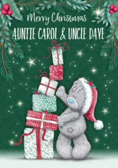 Me To You Tatty Teddy cute Christmas Card for Auntie and Uncle
