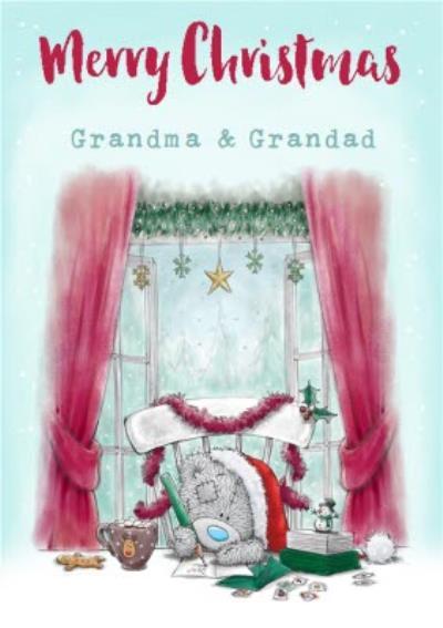 Me To You Tatty Teddy Grandma And Grandad Christmas Card