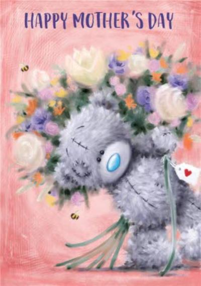 Me To You Tatty Teddy Bunch Of Flowers Mother's Day Card