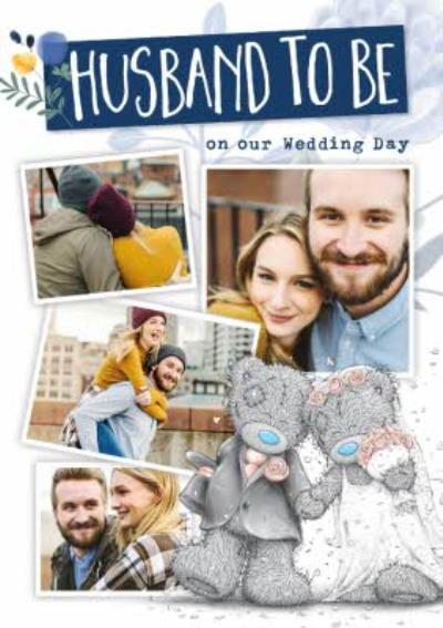 Cute Me To You Husband To Be Photo Upload Wedding Card