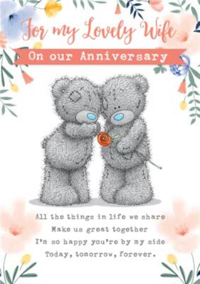 Me To You Tatty Teddy For My Lovely Wife On Our Anniversary Card