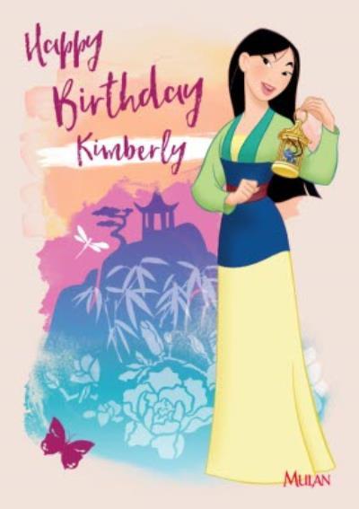 Disney Mulan Kids Birthday Card