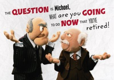 Muppets Retirement Card - Statler and Waldorf