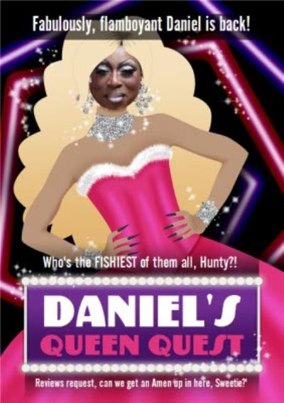 Queen Quest Drag Photo Upload Card