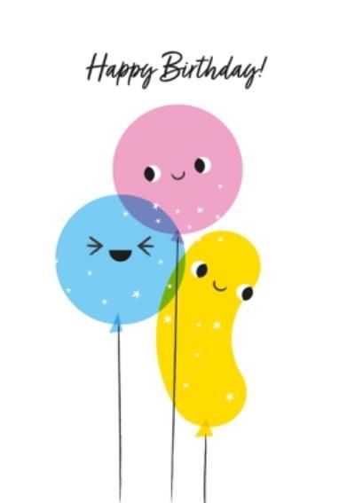 Happy Birthday Fun Balloons Card