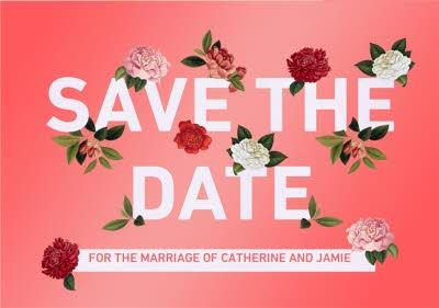 Natural History Museum Save The Date Personalised Invitation Card