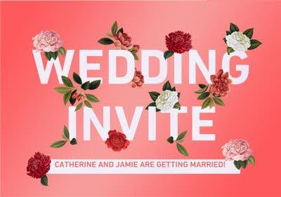 Natural History Museum Wedding Invite Personalised Invitation Card