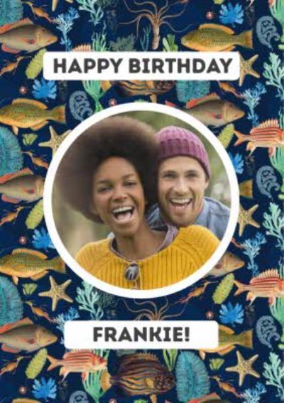 Happy Birthday Underwater Photo Upload Card