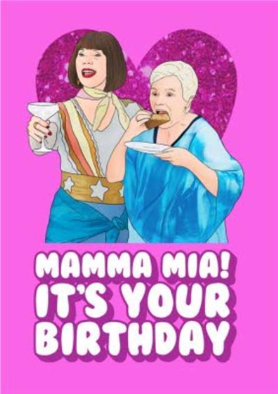 Mama Mia It's Your Birthday Spoof Card
