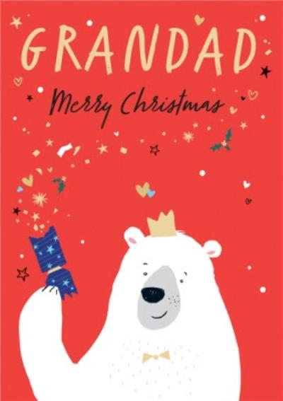 Cute Polar Bear Grandad Christmas Card