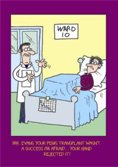 Doctor And Patient Funny Caption Personalised Birthday Card