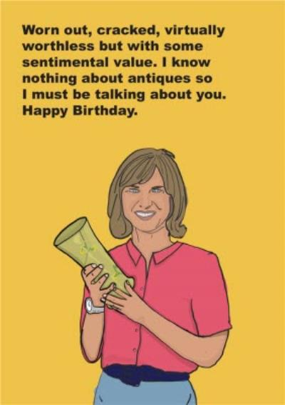Objectables Worthless Antiques Celebrity Funny Card
