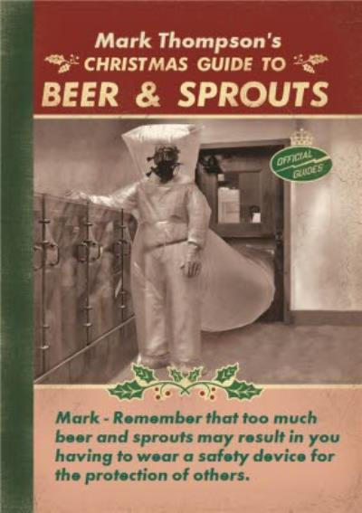 Christmas Guide To Beer And Sprouts Personalised Merry Christmas Card