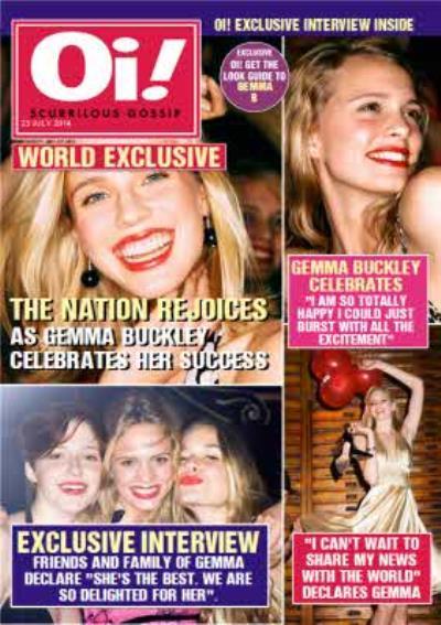 Oi! Magazine Spoof Personalised Photo Upload Happy Birthday Card