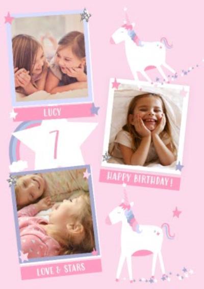 Birthday Card - Unicorn & Rainbow Birthday Card