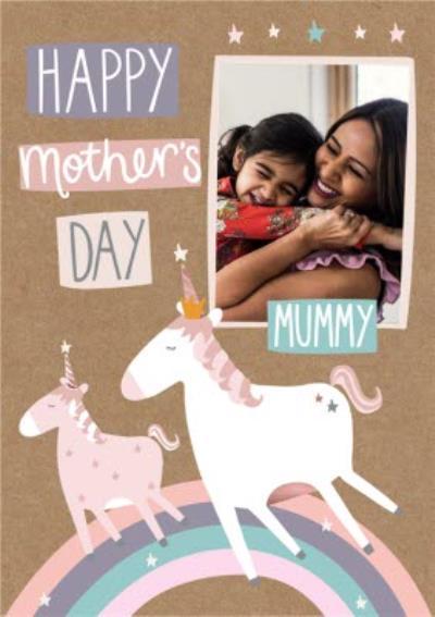 Mother's Day Card - Mummy - unicorn card - photo upload card