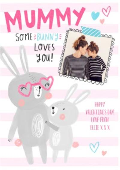 Cute Personalised Valentine's Day To My Mummy Photo Card