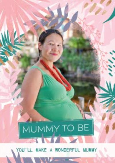 Pastel Tropical Print Mummy To Be Personalised Mother's Day Card