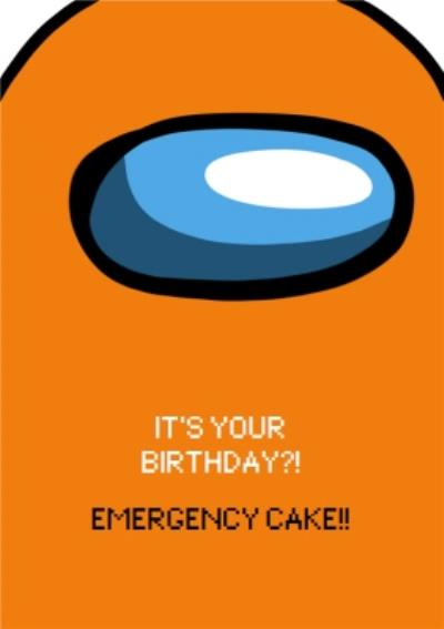 Funny Gaming Meme Emergency Cake Birthday Card