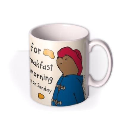 Paddington Bear Marmalade Breakfast Personalised Name Mug