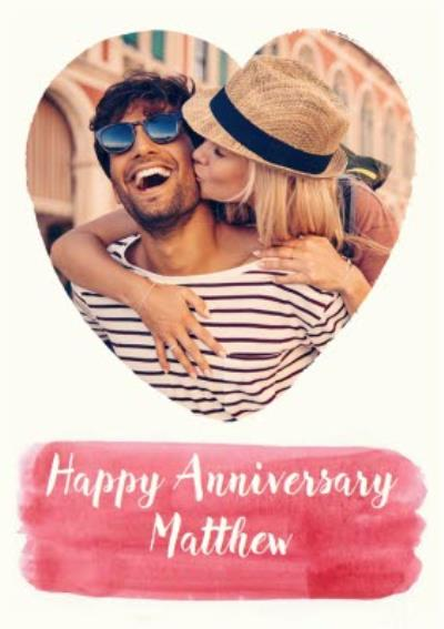 Anniversary Card - Happy Anniversary - Photo Upload
