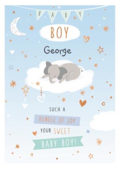 Cute New Baby Boy Card