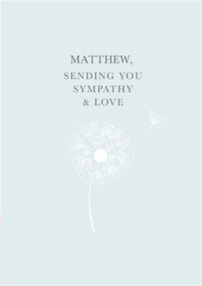 Sending You Love & Sympathy Personalised Card