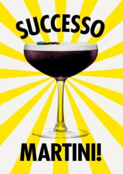 Modern Congratulations Successo Martini Card