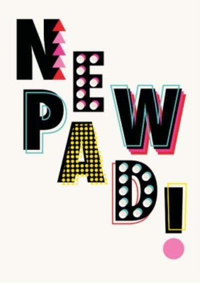 Retro Typographic Design New Pad Card