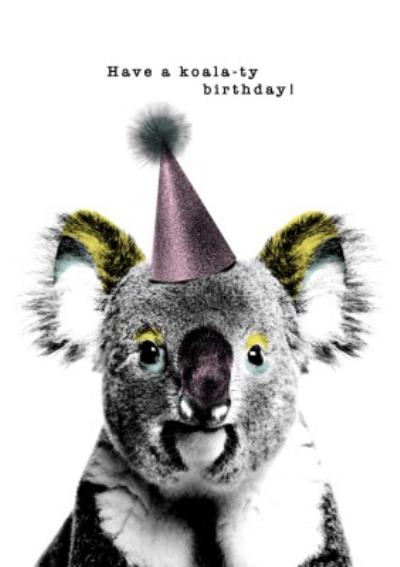 Modern Design Have A Koala Ty Birthday Card