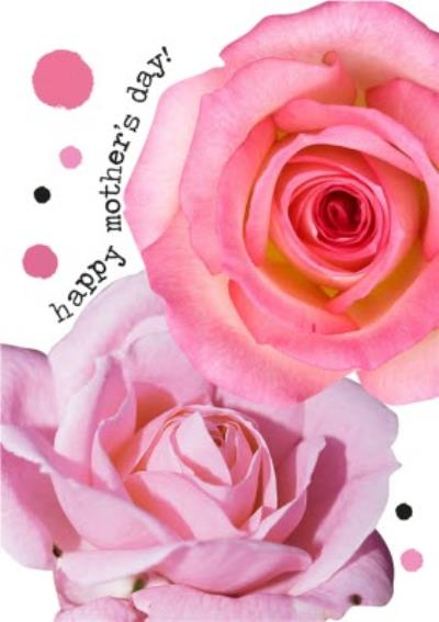 Roses Typographic Happy Mother's Day Card