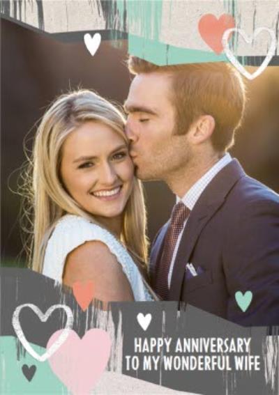 Paper Love Happy Anniversary Photo Upload Card