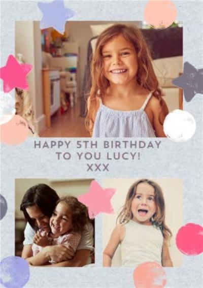 Photo upload 5th birthday card