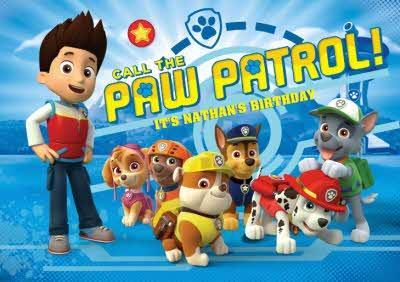 Paw Patrol Birthday Card