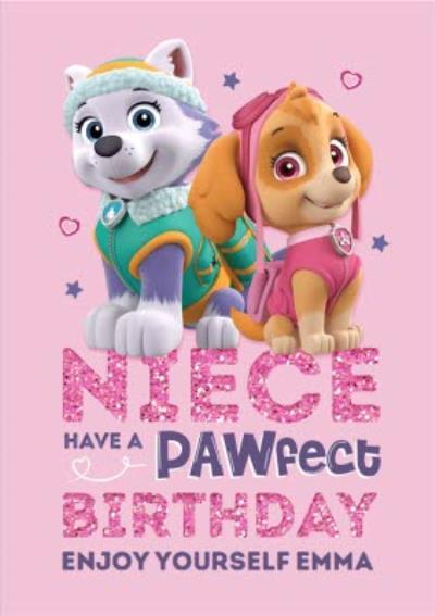 Paw Patrol Birthday Card For Niece Pawfect Birthday