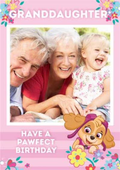 Paw Patrol Have a Pawfect Birthday Photo Upload Birthday Card For Granddaughter