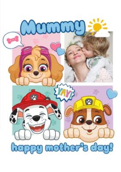 Paw Patrol Photo Upload Mother's Day Card
