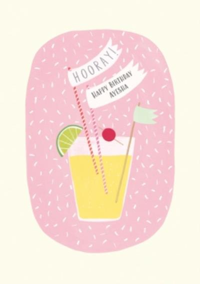 Delicious Cocktail Personalised Birthday Card