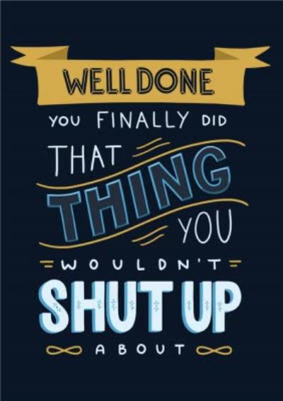 Well Done Graphic Personalised Congrats Card