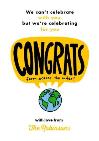 We Cant Celebrate With You But We Are Celebrating For You Card