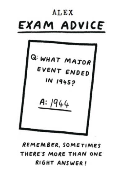 Exam Advise Funny Typographic Card